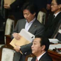 Starter's orders: Prime Minister Yoshihiko Noda attends a Lower House plenary session Friday. | KYODO