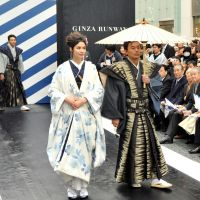 We can do it, too: Models strut their stuff on the catwalk at the Ginza Runway event, part of the Cool Japan strategy to popularize Japanese denim and strengthen the image of Tokyo as a center of fashion, on March 24. | YOSHIAKI MIURA