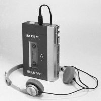 Icons: Sony Corp.'s first Walkman portable cassette player, which debuted in 1979, and its first Betamax video cassette recorder for home use, released in 1975, once defined the firm. | KYODO