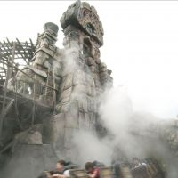 Fast track: Tokyo DisneySea's popular Raging Spirits high-speed roller coaster, on which a rider was hurt Monday, provides thrills in 2005 at the Urayasu, Chiba Prefecture, theme park. | KYODO