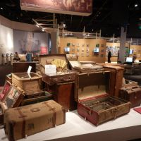 Important belongings: Luggage with personal items carried by Japanese who migrated to North and South America in the early 20th century are displayed at the Japanese Overseas Migration Museum in Yokohama. | SETSUKO KAMIYA