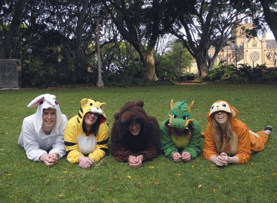 Japan costumes bring out Aussie 'wild side'