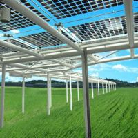 Clean energy goal: A concept image illustrates a plan to set up solar panels in rice paddies to secure both power and food in the tsunami-hit city of Higashimatsushima, Miyagi Prefecture. | COURTESY OF HIGASHIMATSUSHIMA ORGANIZATION FOR PROGRESS AND E / KYODO