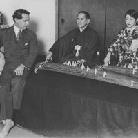 Beate Sirota Gordon (left, front) listens to a koto performance with her parents, Augustine and Leo, in November 1929. | KYODO