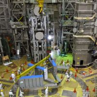 Equipment assembly for nuclear fusion test begins