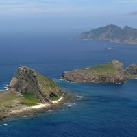 A view of some of the Japanese-controlled Senkaku Islands, which China and Taiwan also claim, in the East China Sea. | KYODO