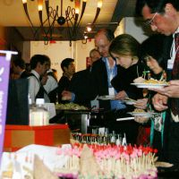 More than 600 people visited the Japan Night event hosted by the Japanese government at the World Economic Forum's annual meeting in Davos, Switzerland, in January 2012 to promote Japan's food and culture. | KYODO