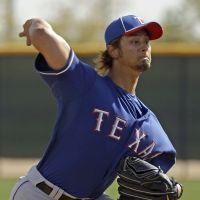 Good stuff: Texas Rangers hurler Yu Darvish fires a pitch at spring training on Wednesday in Surprise, Arizona.   AP
