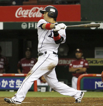 Hiroyuki Nakajima's performance will be crucial to Seibu's chances of winning the Japan Series this season. | KYODO