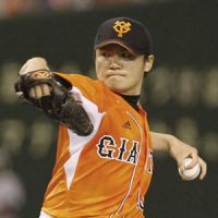 Locked in: Giants left-hander Toshiya Sugiuchi struck out eight batters in six innings on Thursday at Tokyo Dome. Yomiuri defeated the Orix Buffaloes 4-2. | KYODO