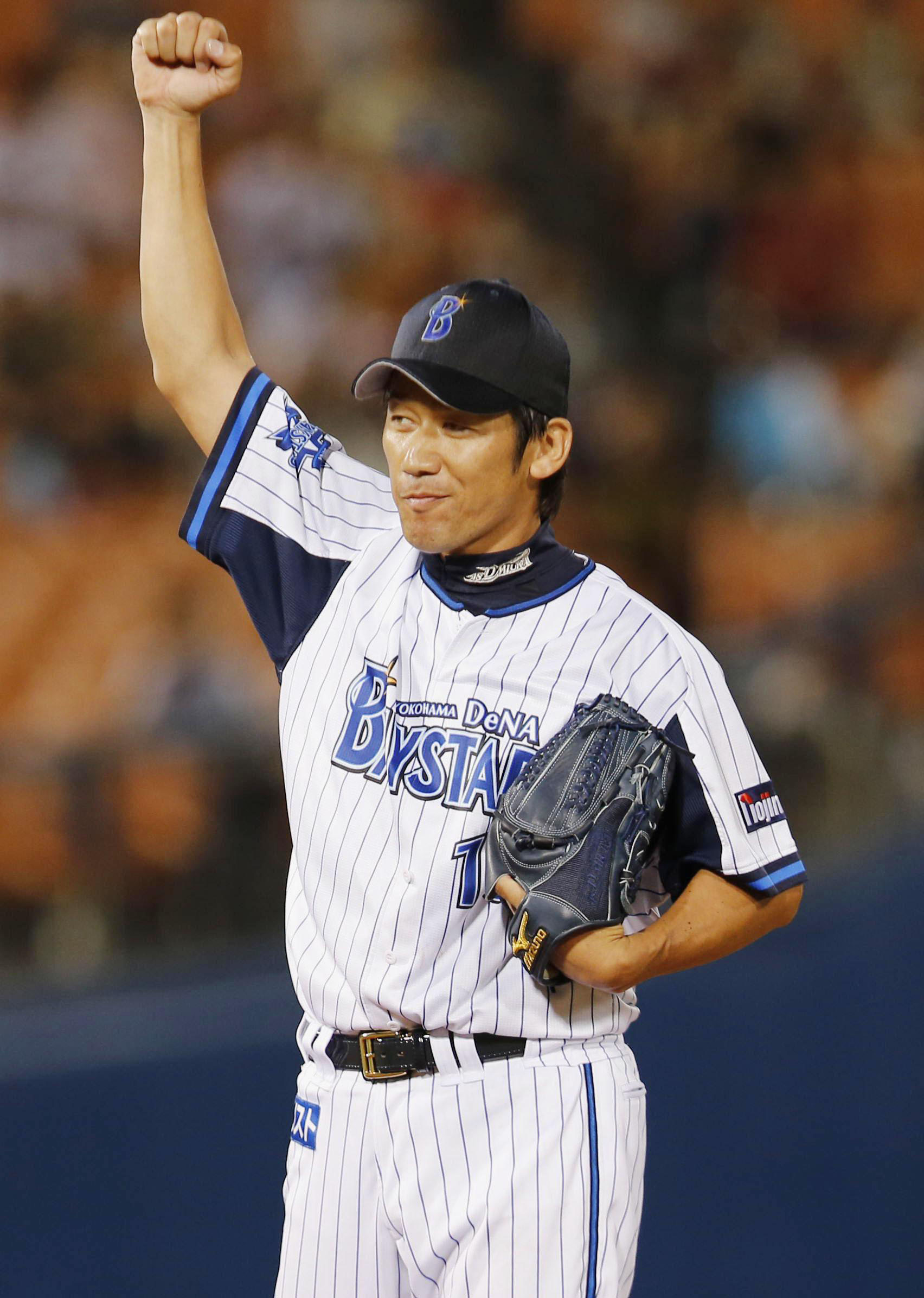 The Boss: Pitcher Daisuke Miura, who has been with the Yokohama franchise for 21 years, has posted an 8-4 record this season for the BayStars. | KYODO