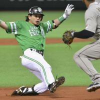 Spread your wings: Hawks infielder Nobuhiro Matsuda has had a strong first half for Softbank. | KYODO