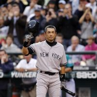 Thanks for the memories: New York Yankees right fielder Ichiro Suzuki acknowledges the crowd in the third inning in the first game against his former club, the Seattle Mariners, at Safeco Field in Seattle on Monday. The Yankees defeated the Mariners 4-1. | AP