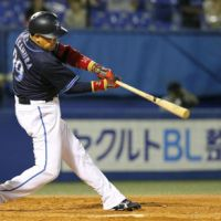 It's been a long year: Norihiro Nakamura and the BayStars are trying to avoid another last-place finish. | KYODO