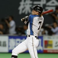 On fire: Hokkaido Nippon Ham Fighters outfielder Yoshio Itoi has blossomed into one of the best players in Japan. | KYODO
