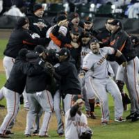 Peas in a pod: The San Francisco Giants' route to the World Series title bore remarkable similarities to the Yomiuri Giants' current exploits in Japan. | AP