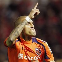 Local hero: Omiya Ardija's Rafael celebrates after scoring against Urawa Reds on Saturday. | KYODO
