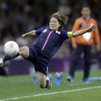 Leap of faith: Midfielder Aya Miyama and her Nadeshiko Japan teammates take on France on Monday with a place in the Olympic final at stake. | AP