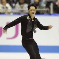Impressive form: Daisuke Takahashi performs in the men's free skate on Friday at the World Team Trophy. Takahashi finished first with 276.72 points. | KYODO PHOTO