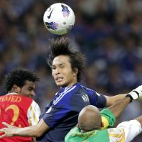 Striking distance: Ryoichi Maeda scored in Japan's 3-0 World Cup qualifying win over Oman last Sunday and will be confident of retaining his place for Friday's game against Jordan. | AP