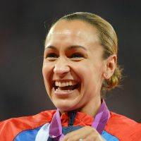 Golden girl: Jessica Ennis' heptathlon victory Saturday contributed to a historic night for Great Britain. | AFP-JIJI