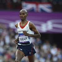 Hero for life: Britain's Mo Farah thrilled the masses by winning the 5,000- and 10,000-meter races in dramatic fashion at the 2012 London Olympics. | AFP-JIJI