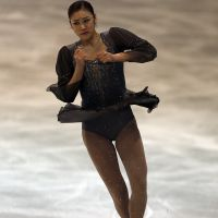 Rousing return: Kim Yu Na, competed for the first time in more than 18 months at the NRW Trophy in Germany earlier this month, where she notched the highest score of the season in winning. | AP