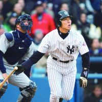 Godzilla: Hideki Matsui became a success in the major leagues after years of starring for the Yomiuri Giants. | KYODO