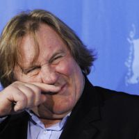 New role: French actor Gerard Depardieu speaks to reporters during a photo call for the movie 'Mammuth' at the Berlin Film Festival in February. | AFP-JIJI