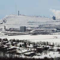 Not big enough for both: Swedish firm LKAB's iron mine looms over the town of Kiruna. | AFP-JIJI