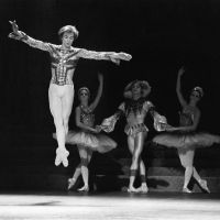 Flight of fancy: Rudolf Nureyev performs during the Paris Opera's production of the ballet 'Raymonda' in November 1983. | AFP-JIJI