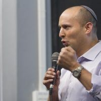 Leading a 'Jewish Spring': Naftali Bennett, the head of the rightwing party Jewish Home, speaks to college students at the Ariel College in the Jewish settlement of Ariel, located in the West Bank. According to the latest polls, Jewish Home could become Israel's third largest party in the Jan. 22 election. Bennett's party is just two seats behind the Labor Party. | AP