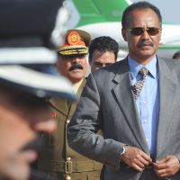 Author of authoritarianism: Eritrean President Isaias Afworki arrives for an African Union summit at Mitiga Airport in  Tripoli in November 2010. | AP
