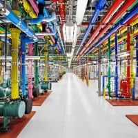 Making connections: A peek inside one of Google's eight data centers worldwide, this one in Douglas County, Georgia. | AP
