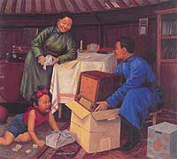 Modern Paintings of Mongolia: taking great steppes