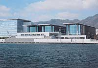 The Hyogo Prefectural Museum of Art, designated by Tadao Ando, is part of a waterfront redevelopment zone symbolizing the rebirth of Kobe.   PHOTO COURTESY OF HYOGO PREFECTURAL MUSEUM OF ART