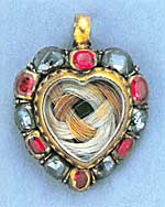 A heart-shape diamond and ruby keepsake pendant (late 17th century)