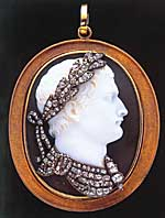 A diamond-encrusted agate cameo of Napoleon  Bonaparte (c. 1810)