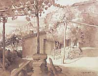 'Priest's Grape Arbor with View of Olevano, 1821' (above) and 'Boulder Gap at Cervara, 1823,' both by Julius Schnorr von Carolsfeld | PHOTOS COURTESY OF NATIONAL MUSEUM OF WESTERN ART