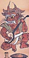 A Goblin Playing the Shamisen, 18th century
