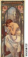 Mucha's 'Night's Rest' (1899) from 'The Times of the Day' series