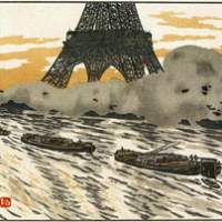 Henri Riviere's 'Les Peniches (The Barges)' (above) and 'Sur les Toits (On the Roofs)' (1902) (below)copied Japanese wood block techniques. | COURTESY OF NEW OTANI ART MUSEUM