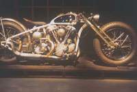 a 'knucklehead'-type Harley-Davidson engine forms the heart of this monster.   MARTIN WEBB PHOTOS