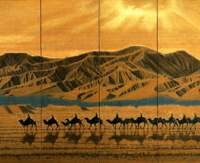 Ikuo Hirayama's 'Vast Sky over the Silk Road' (1982) was inspired by Central Asia. | COURTESY OF MOMAT