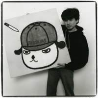 Shigeo Anzai's photograph of Yoshitomo Nara in Tokyo on January 29, 1996. To see more of his shots of artists, visit The Japan Times online. | © ANZAI