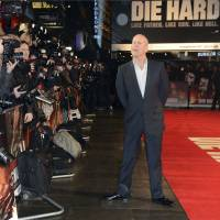 Gunslinger: Actor Bruce Willis arrives at the British premiere of his new film, 'A Good Day to Die Hard,' at the Empire Leicester Square, London on Feb. 7. | AP