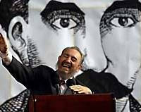 Cuban President Fidel Castro laughs at his own expense after saying Uruguay instead of Paraguay during a speech. A study shows aging does not affect emotional responses to humor.