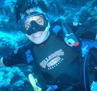 Your NS reporter in a state of wonderment at seeing the sunken SS Thistlegorm 30 meters below the southern Red Sea in the Straits of Gubal. | DANIELA PORTMANN PHOTO