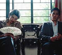 Takeshi Kaneshiro (left) and Tony Leung in 'Confession of Pain'   (c)2006 MEDIA ASIA FILMS (BVI) LTD. ALL RIGHTS RESERVED