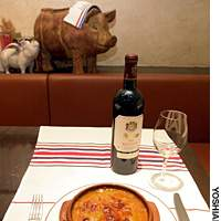 Perfect winter match: big reds and cassoulet